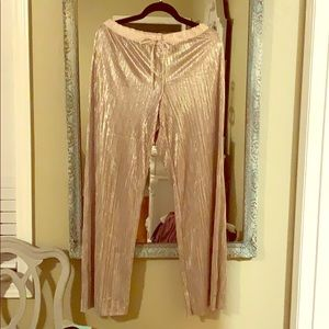 VS Women's gold shimmering lounge bottoms. Size M
